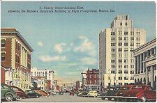Cherry Street Looking East in Macon GA Postcard
