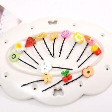Populär Haarspange aus Kunststoff 10stk süß Haarnadel mit Obst Modell Pendant