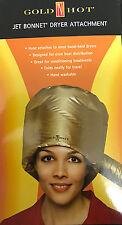 Gold Hot Jet Bonnet Dryer Attachment/ Drying Hood/ Hand Dryer Cap/ HotCap Attach