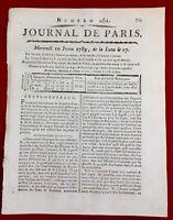 Haïti 1789 Port au Prince Saint Domingue États Généraux Revolution Française