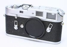 LEICA LEITZ M4 CHROME RANGEFINDER CAMERA BODY W/ CAP -- USER -- FILM TESTED