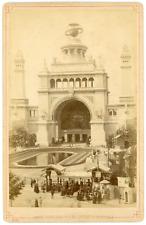 Belgique, Anvers, Exposition Universelle, entrée principale Vintage albumen prin