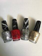 Lot of 4 Opi Gwen Stafani Limited Edition Nail Polish Full Size .5 oz each