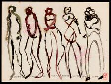 #16 Modern Art Figure Series ORIGINAL OIL PAINTING Bohemian Urban Beatnik SIGNED