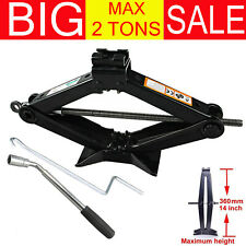 Portable Car Emergency Scissor Jack Lift for Car Van Garage 2 Tons With Wrench