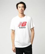 New Balance NB Tokyo Men's Unisex White Red Tee T Shirt BNWT (Japan Exclusive)
