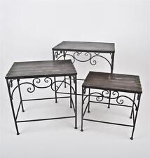 Mesas auxiliares de color principal gris metal