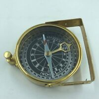 Nautical Pirate Vintage Brass Compass w/ Leather Case and Strap for the Captain