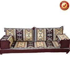 Arabic Sofa Moroccan Oriental Turkish Set Floor Corner Cushion Brown Only Covers