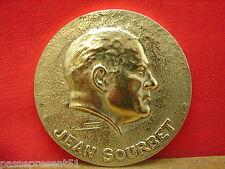 Jolie ancienne médaille bronze, Jean Sourbet, Max le Verrier, U.N.C.A.C.
