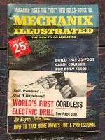 Vintage Mechanix Illustrated July 1961 Cordless Drill Professional Home movies