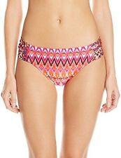 Kenneth Cole X-Large Pink Geo Beyond the Sea Tab Bikini Swimsuit Bottoms XL NWT