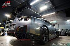 2008-2015 GTR R35 VA Style Carbon Fiber Rear Diffuser Lip Body Kit W/ LIGHT/FINS