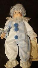 "Brinn's Collectible Edition, 1991,  16"" Tall Porcelain Clown Doll FREE SHIPPING"