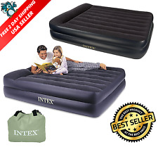 Intex Inflatable Full Airbed Queen Size Built Electric Pump Air Mattress Sleep