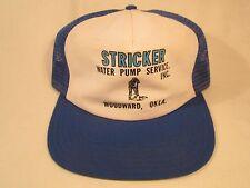 VINTAGE HAT Mens Cap STRICKER WATER PUMP SERVICE B Woodward, Oklahoma [Y39B3]