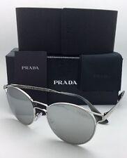 New PRADA Sunglasses SPR 62S 1BC-2B0 53-19 140 Silver Frame w/Grey+Silver Mirror