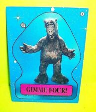 "1987 TOPPS ALF #5 ""Gimme Four"" High Five Sticker The Alien from Melmac BEAUTY!"