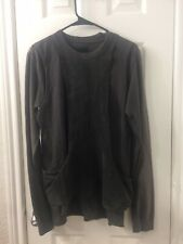 Rick Owens Slab Crewneck Long Sleeve Top Sz S