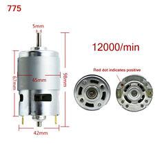 775 DC 12V-36V 3500-9000RPM Motor Brushed Large Torque High Power Low Noise bvc