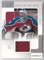 2000-01 SP Game Used Tools of the Game #PR Patrick Roy Jersey