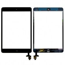 REPLACEMENT TOUCH SCREEN DIGITIZER FOR IPAD MINI 1/2 & HOME BUTTON + IC - BLACK