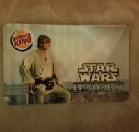 Star Wars EPISODE IV, Burger King Empty Gift Card, Hologram of LUKE & DARTH