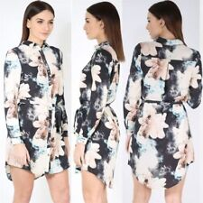 Floral Shirt Dresses for Women with Buttons