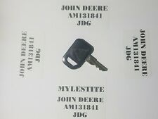 (1) John Deere Key # AM131841 JDG John Deere Equipment  Key FAST FREE SHIPPING
