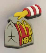 Mc Donalds HBO Take Away Ronald McDonald Rubber Pin Badge Vintage Authentic (N4)