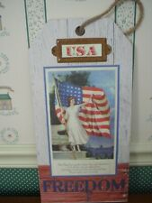 "Gallerie Ii-Usa Wall Plaque-Freedom-Measures 8"" X 16"" New-2019"