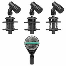 3) Beyerdynamic TG D35 Drum Microphones For Toms and Snares+AKG Kick Drum Mic