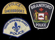 3 Police patches Sherbrooke, Trois-Rivières-Ouest, Brantford