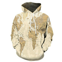2019 Hoodie World Map Pullover Autumn Sweatshirt Cosplay Fashion Costume Coat