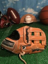 Spalding 42080 11� Baseball Glove Rht Leather Right Hand Throw