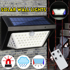 80LED Solar Wall Light with Alarm Outdoor Garden Pathway PIR Motion Sensor Lamp
