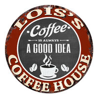 CPCH-0091 LOIS'S COFFEE HOUSE Chic Tin Sign Decor Gift Ideas