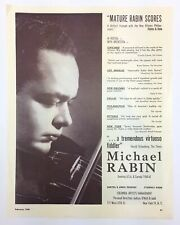 Michael RABIN (Violinist): Halftone Photograph from Musical America
