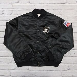 Vintage 90s Oakland Raiders Satin Jacket Starter Youth L Los Angeles Las Vegas