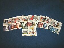 2012 SCORE FOOTBALL COMPLETE NUMBERS GAME INSERT SET 1-20 (INS8)