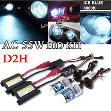 8000K Ice Blue AC 55W D2H HID KIT Xenon Headlight Replacement Light Bulb Ballast