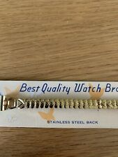 Ladies New Gold Coloured Expandable Watch Strap 10mm Bracelet