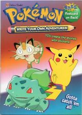 WRITE YOUR OWN POKEMON ADVENTURE - STICKERS - GREAT COLORING BOOK -1999