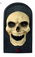 ANIMATED Halloween Electronic Doorbell SKULL Door Bell