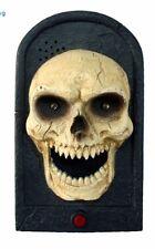 ANIMATED Halloween Electronic Doorbell SKULL Door Bell