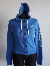 Hollister California womens cotton blend blue sweatshirt with hoody size XS