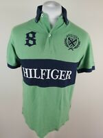 Mens Tommy Hilfiger Big Spellout Polo Green Medium 42 Chest
