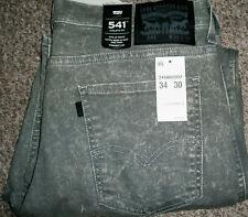 LEVI'S 541 Athletic Fit Straight Leg Stonewash Gray Denim Jeans NWT 34x30 $68