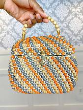 1960s Vintage Beaded Mini Satchel Italian Handbag