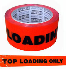 Top Loading Only Packing Tape 50m Roll Fluoro Orange.  35827